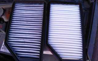 Киа рио замена воздушного фильтра