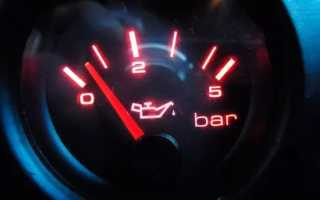 Как замерить давление масла в двигателе